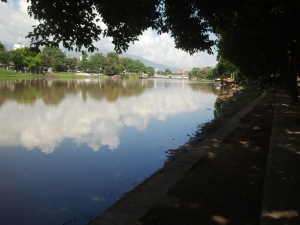 A photo from my ride into Chiang Mai, all by myself.   I'm so proud of me!