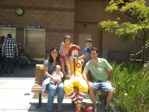 Us with the big guy outside of RMH.  Love this place, but I hope I never stay there again!