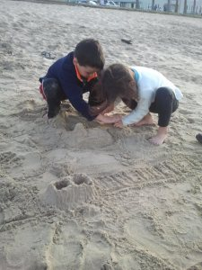 My kids are fanatics about Minecraft.  They even model their sandcastles after the game now.
