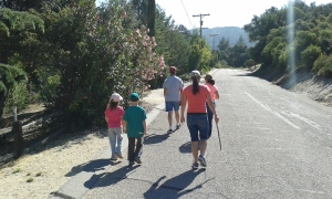 The family  hike in Warner Springs.  Much drier than in Thailand.