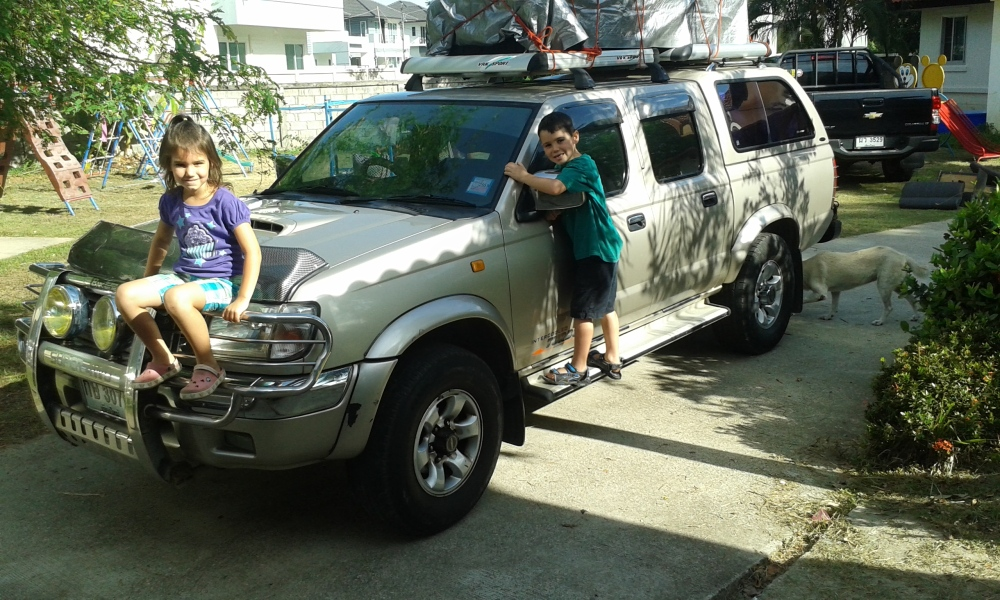 All packed up: Mae Sot or bust!  Lord get us there in one piece.