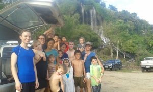 A larger contigent of us who went to the falls.
